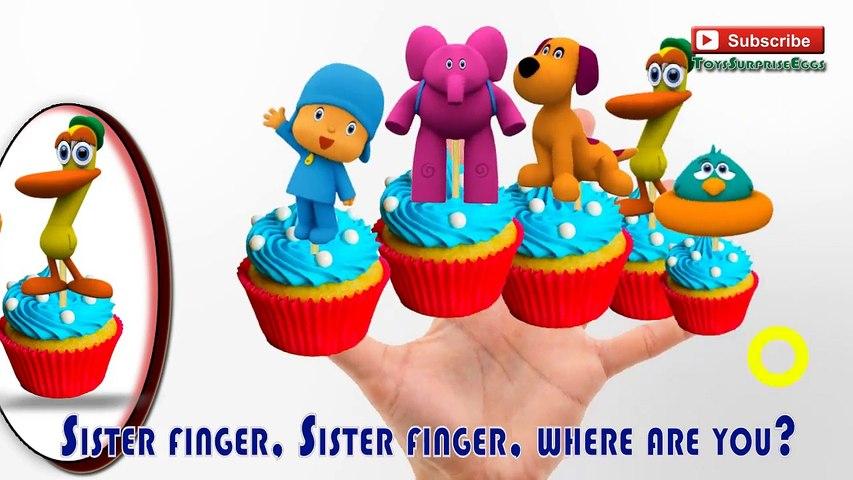 Pocoyo Cupcakes Finger Family Nursery Rhymes lyrics Mommy finger education | MyFingerFamil