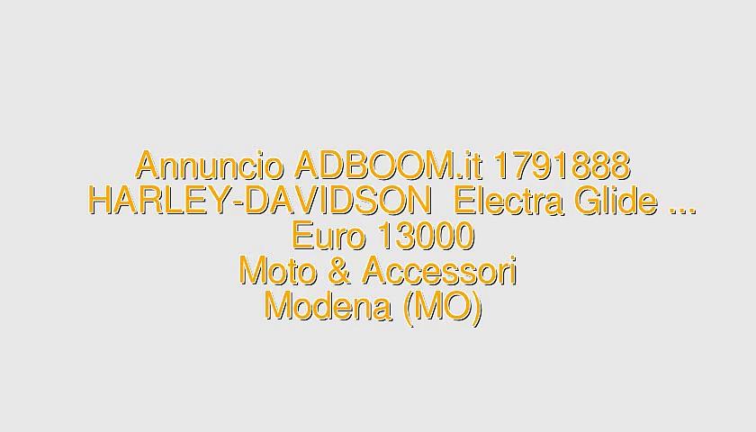 HARLEY-DAVIDSON  Electra Glide …