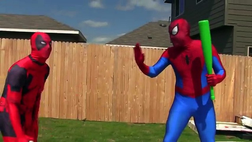 Spiderman vs Deadpool Basketball .SuperHero Basketball