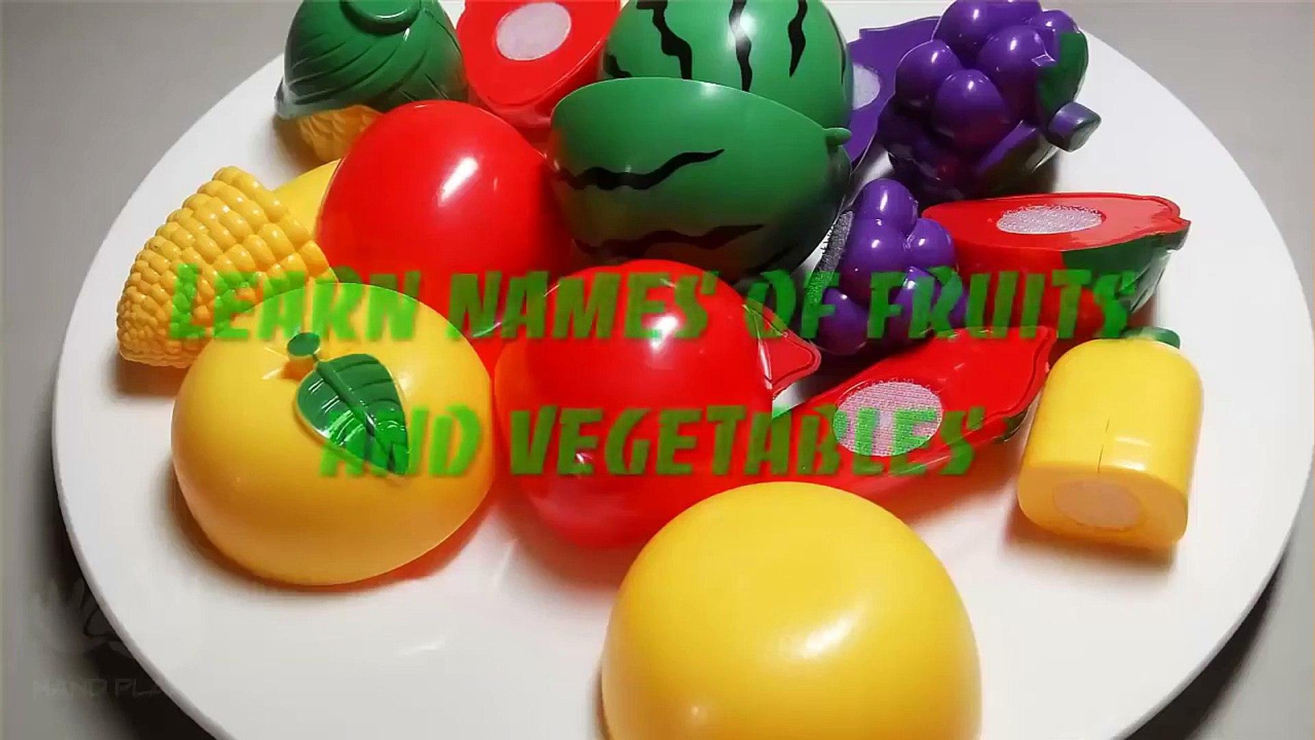 И резка фрукты Узнайте имен из игрушка овощи липучка с Esl asm