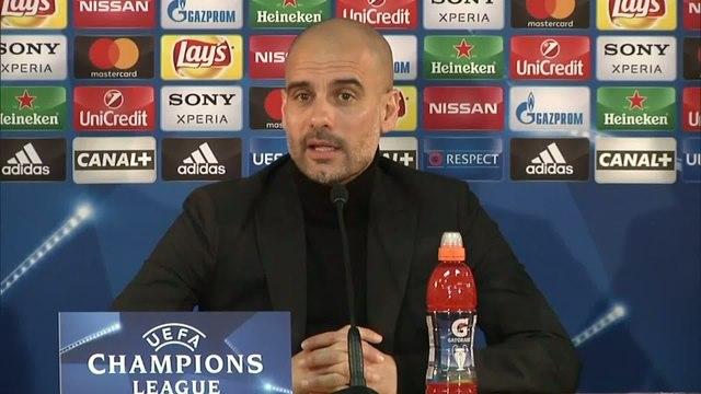 Foot - C1 - Monaco/Man. City : Guardiola : «Une des meilleures attaques d'Europe»
