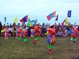 Mongolian kids performing traditional dance