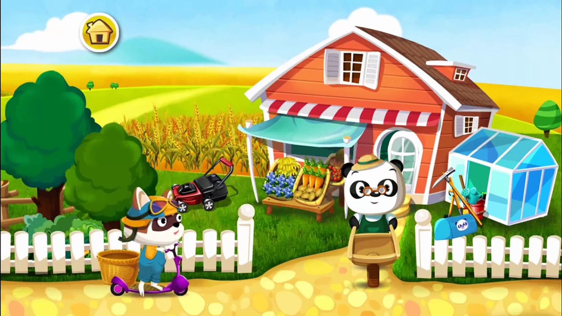 О и Дети доктор для фрукты Сад Узнайте панда овощи вегетарианец |