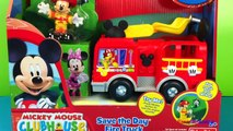 Mickey Mouse Clubhouse Save the Day Fire Truck with Minnie Mouse House Having Play Doh Fir