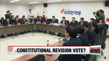 Three parties to seek constitutional revision referendum with pres. election