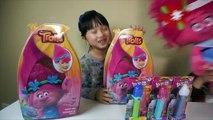 TROLLS PEZ Candy Dispensers,Trolls Movie Poppy Dress Up,Giant Poppy Doll,Trolls Movies Toy