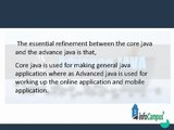 Difference between Core Java and Advance Java