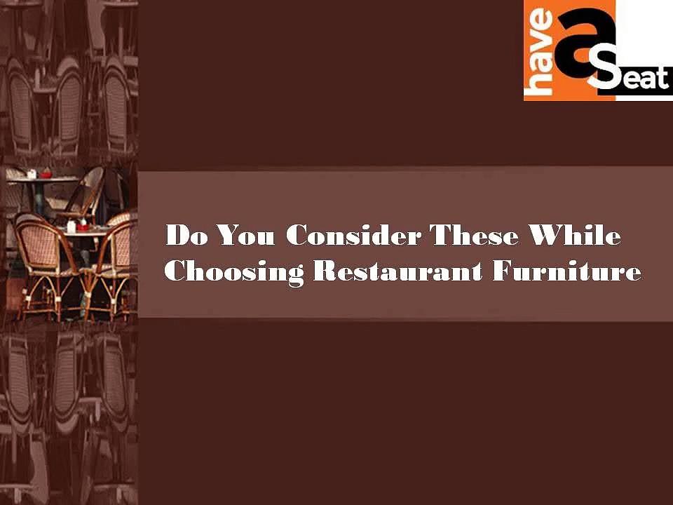 Restaurant chairs- Restaurant furniture