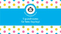 Spanish names for baby twins (boy-boy) - the best names for your baby - www.namesoftheworld.net