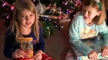 Kids Opening Christmas Presents - Girls Holiday Fun new
