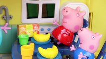 Peppa Pig Toys in English  Peppa Pig cuts Madame Gazelle Clothes _ Toys Videos in Engl