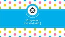 50 boy names that start with B  - the best baby names - www.namesoftheworld.net