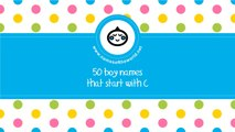 50 boy names that start with C - the best baby names - www.namesoftheworld.net