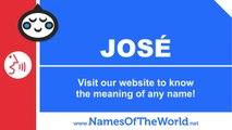 How to pronounce JOSE in Spanish? - Names Pronunciation - www.namesoftheworld.net