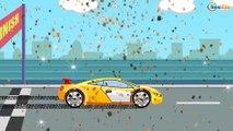 Carros de Carreras. Coche DEPORTIVO. Dibujos animados de COCHES. Carros Para Niños