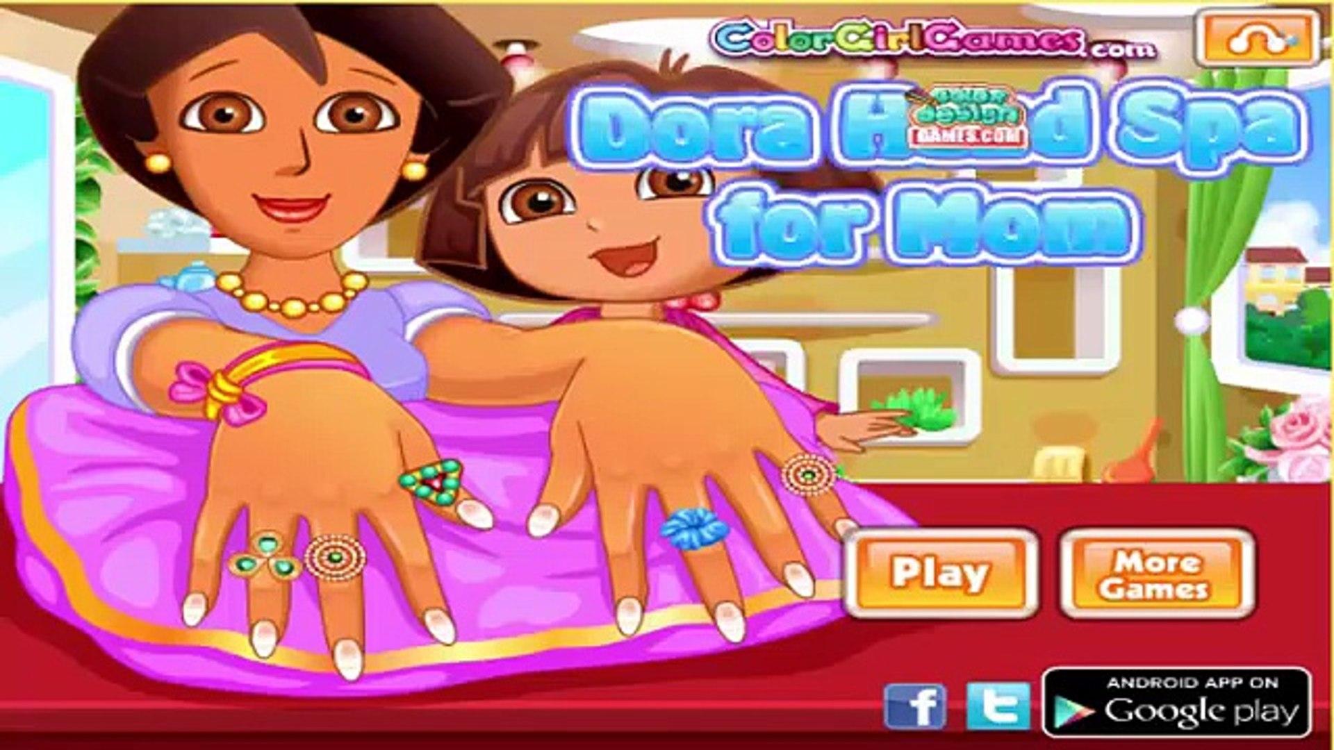 Лучший Лучший Дора Проводник для игра Игры рука к к к к к к Дети мама новейшие спа спа в видео