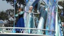 ºoº [ アナとエルサ] ディズニークリスマスストーリーズパレード アナと雪の女王 TDL Christmas stories parade Anna & Elsa Frozen Float