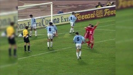 1995-1996 : But d'Assadourian lors de Rome - OL