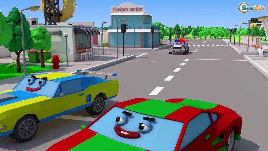 3D Çizgi Film - Ambulans, Kamyon ve Yarış Arabası - Akıllı Arabalar - Türkçe İzle