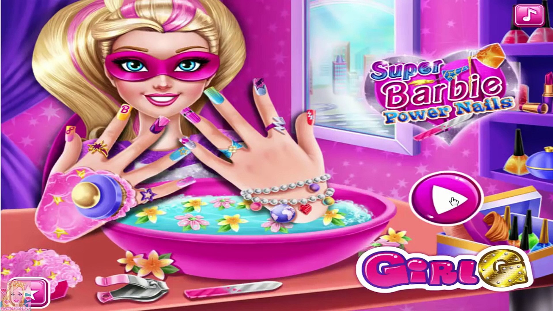 Disney Princess Barbie: Super Barbie Power Nails - Barbie MakeOver