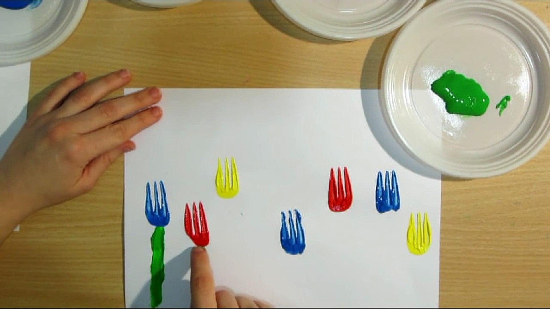 FLOWERS: ORIGINAL PRESCHOOL ACTIVITIES - KIDS SIMPLE DRAWING for children, kids, babies Le