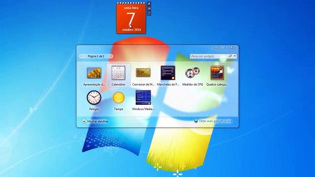 Como adicionar Gadgets a sua área de trabalho no Windows 7