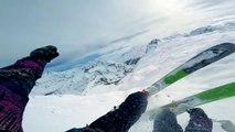 Un skieur filme des sauts avec une Gopro !