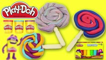 Christmas Play Doh Lollipops How to Make Playdough Rainbow Lollipops Pops Candies Play Doh
