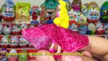 64 Киндер Сюрпризов,Unboxing Kinder Surprise Frozen,Giants Eggs,Маша и Медведь,Angry Birds