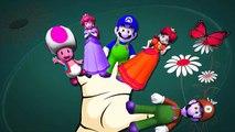 Finger Family Nursery Rhymes For Children Super Mario Cartoons For Kids | Finger Family Rhymes
