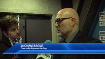 Hautes-Alpes : Luciano Basile félicite l'entraineur bordelais après la défaite des Rapaces
