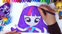MLP My Little Pony Equestria Minis Speed-Color! EG Minis Rarity, Pinkie Pie, MLP Coloring