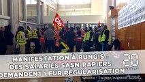 Manifestation à Rungis:  Des salariés sans-papiers  demandent leur régularisation
