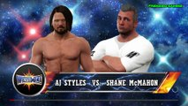 WWE 2K17 AJ Styles Vs Shane McMahon Wrestlemania 33