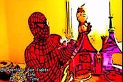Batman Farts On Spidermans Head Gets Shot In BUTT,Spidergirl,Superman baby,屁蝙蝠侠蜘蛛人的头被枪杀对接,