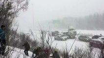 Carambolage au Canada après la tempête hivernale