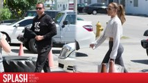 Alex Rodriguez and Jennifer Lopez Work Up a Sweat