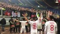 Les Lyonnais fêtent la qualif' en quarts avec les supporters !