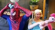 Spiderman & Frozen Elsa vs BAD JOKER in Real Life! Fun Superhero ft Hulk Dance, Shark Atta