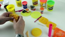 ♥ Play-Doh Fast Food & Dessert Playset Make Burger Hot-Dog French Fries Drinks Donuts and