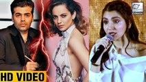 Anushka Sharma Reacts To Kangana Ranaut-Karan Johar Fight   LehrenTV