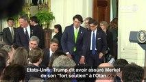 """Trump dit avoir assuré Merkel de son """"fort soutien"""" à l'Otan"""