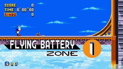 Flying Battery Zone Reveal  de Sonic Mania