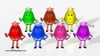 Цвета Яйца для Дети Узнайте обучение сюрприз детей младшего возраста видео с 3D