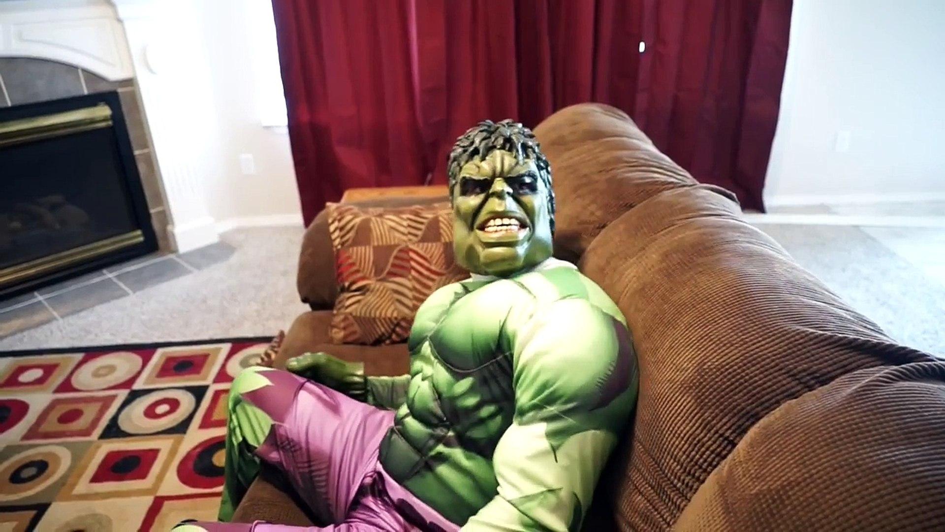 Spiderman T Rex Hulk Vs Joker In Real Life Superhero Movie Video Dailymotion