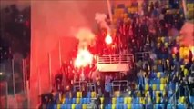 Arka Gdynia - Lechia Gdansk Highlights cortege pyro and trouble in Stadion GOSiR