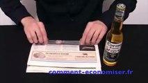Comment ouvrir une bouteille de bière SANS décapsuleur avec un journal !