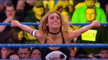 720pHD WWE Smackdown Live 01/03/17: Carmella vs Aliyah + Carmella & James Ellsworth Segmen