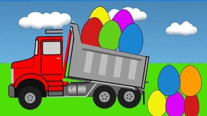 Узнайте цвета с свалка грузовики для Дети и Цвет гараж анимация видео для Дети 2.