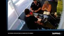 Un iPhone 6 prend feu dans les mains d'un homme (vidéo)